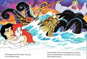 Walt Дисней Book Обои - Prince Eric, Princess Ariel & Ursula