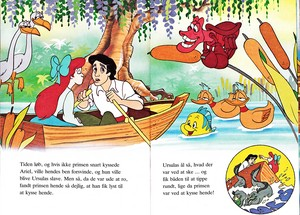 Walt disney Book imagens - Princess Ariel, Prince Eric, Sebastain, Flounder, Flotsam & Jetsam