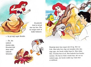 Walt Дисней Book Обои - Princess Ariel, Scuttle, Sebastian, Flounder, Max & Prince Eric