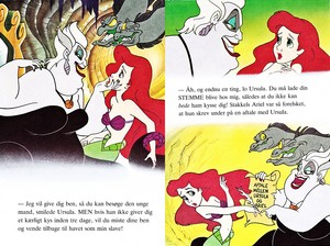 Walt Disney Book hình ảnh - Ursula, Flotsam, Jetsam & Princess Ariel