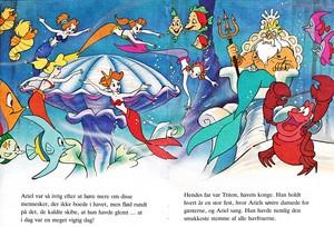 Walt disney Book imagens - Ariel's Sisters, King Triton & Sebastian