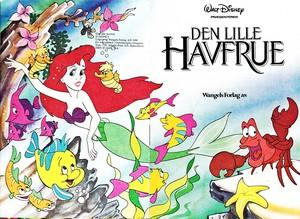 Walt Disney Book afbeeldingen - Princess Ariel, bot & Sebastian
