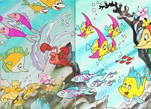 Walt ディズニー Book 画像 - Sebastian & ヒラメ
