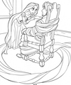 Walt Disney Coloring Pages - Princess Rapunzel & Flynn Rider/Eugene Fitzherbert - walt-disney-characters photo