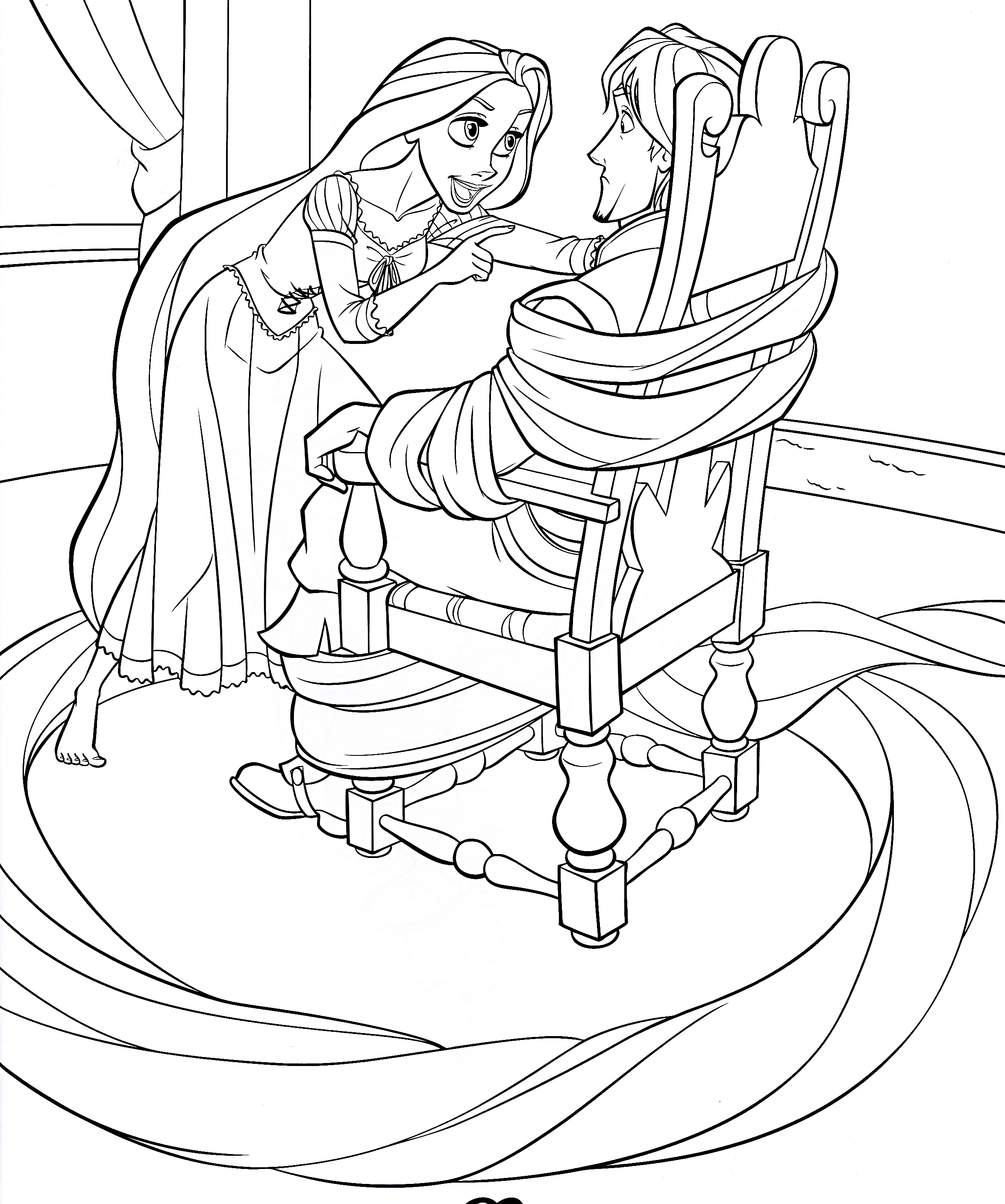Walt Disney Coloring Pages Princess Rapunzel Flynn Coloring Pages Tangled