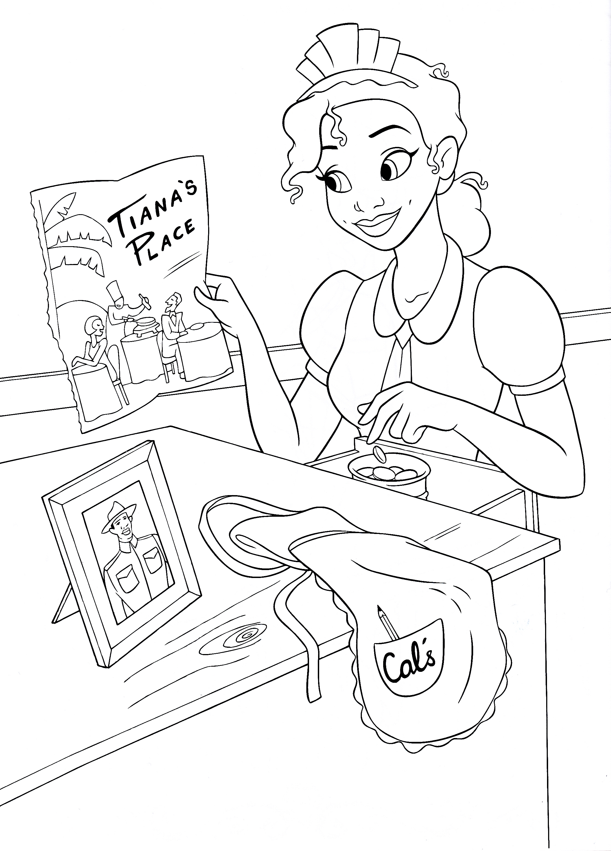 Walt Disney Coloring Pages Princess Tiana Walt Disney