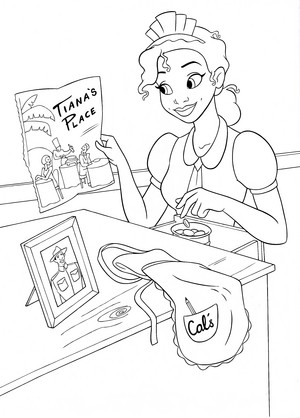 Walt डिज़्नी Coloring Pages - Princess Tiana