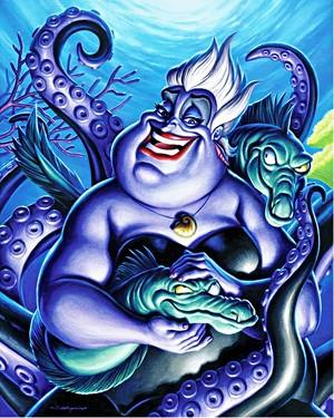 Walt Disney Fan Art - Ursula, Flotsam & Jetsam