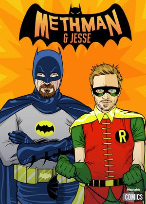 Walt and Jesse Batman and Robin - Breaking Bad
