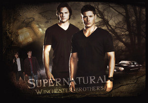 Winchester brothers kertas dinding
