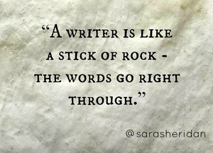 Sara Sheridan Quote on escritura