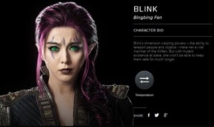 X-men: Days of Future Past Character Bio Blink