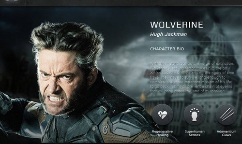 X Men Wallpaper Possibly Containing A Sign Anime And Portrait Called Days Of Future Past Character Bio Wolverine