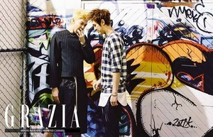 Thunder and Seungho for 'Grazia'