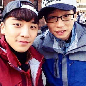 Seungri with Yoo Jae Suk
