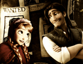 Anna with Flynn - disney-crossover photo