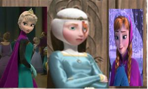 Elsa,Merida and Anna
