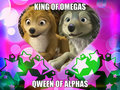 king of omegas qween of alphas - alpha-and-omega fan art
