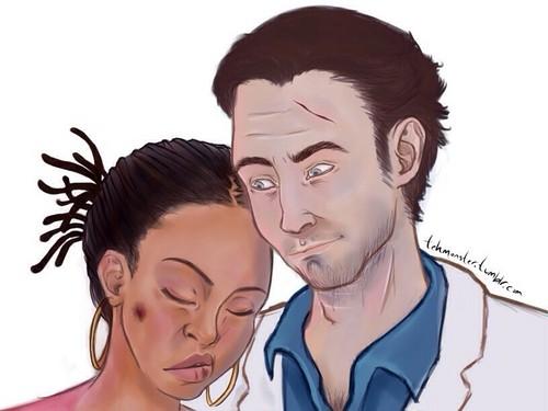 Left 4 Dead 2 fond d'écran containing a portrait called Nick and Rochelle
