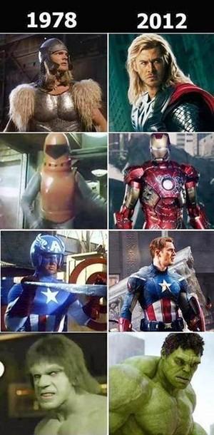 Avengers: 1978 vs. 2012