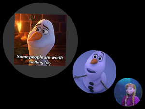 what does anna think about olaf