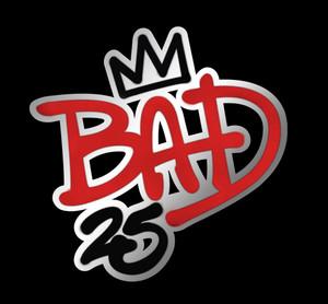 """25th"" Anniversary Edition Of ""Bad"" Logo"