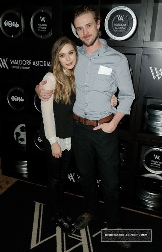 Elizabeth Olsen fond d'écran probably containing a well dressed person titled 'Little Accidents' Cast Party At Waldorf Astoria - 2014 Park City (January 21, 2014)