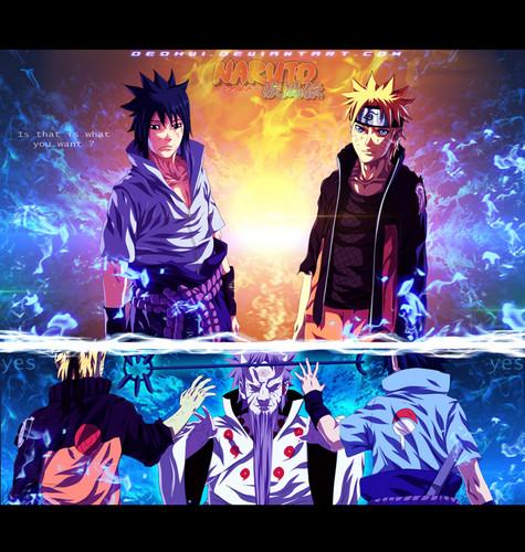 Uchihas Hintergrund probably with a sign and Anime entitled *Naruto/Hagoromo/Sasuke*
