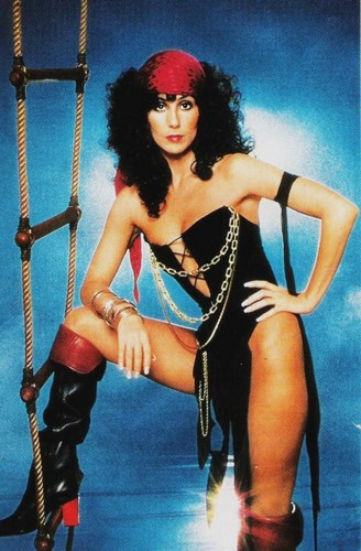 Cher پیپر وال possibly containing a chainlink fence titled Cher Dressed As A Pirate