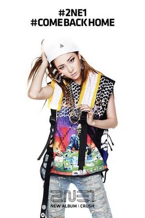 Official picha of 2NE1′s 'CRUSH' Album; pink Edition