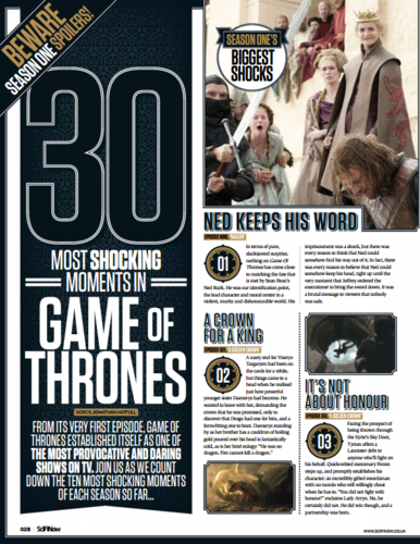 Game of Thrones wallpaper possibly with a newspaper and anime entitled 30 most shocking moments in Game of Thrones