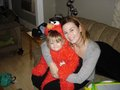 Adam Gontier's wife Naomi with their goddaughter Roo on Halloween! I took this photo of them! - three-days-grace photo
