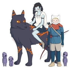 Adventure time ode' to princess mononoke