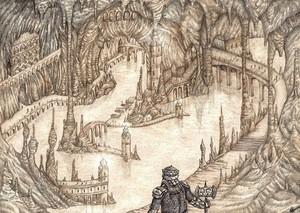 Aglarond - Glittering caves 由 lomehir.deviantart.com