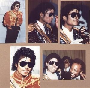 An Assortment Of Vintage Photographs Pertaining To Michael Jackson