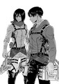Levi and Mikasa - anime fan art