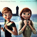 Anna -- Before and After - disney-princess photo