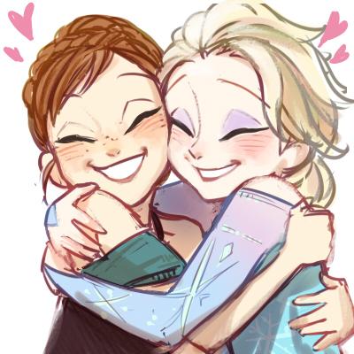 Nữ hoàng băng giá hình nền probably with anime titled Anna and Elsa