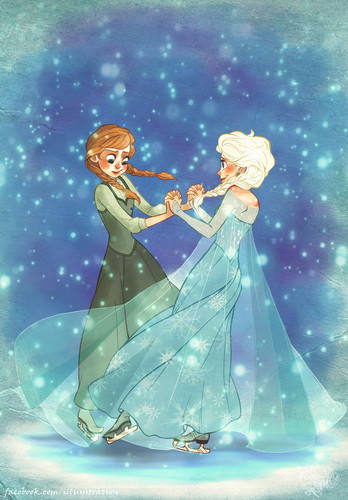 Princess Anna 바탕화면 titled Anna and Elsa