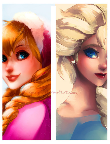 Princess Anna wallpaper entitled Anna and Elsa