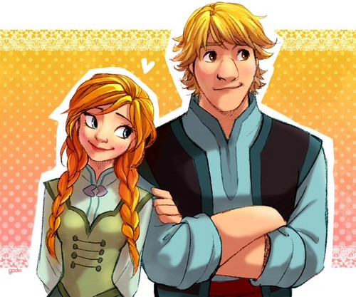 Frozen Hintergrund with Anime entitled Anna and Kristoff