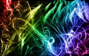 Neon upinde wa mvua karatasi la kupamba ukuta