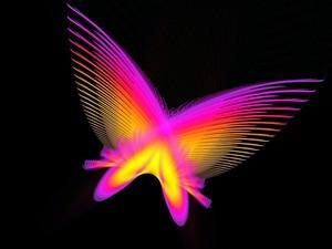 Neon butterfly, kipepeo karatasi la kupamba ukuta