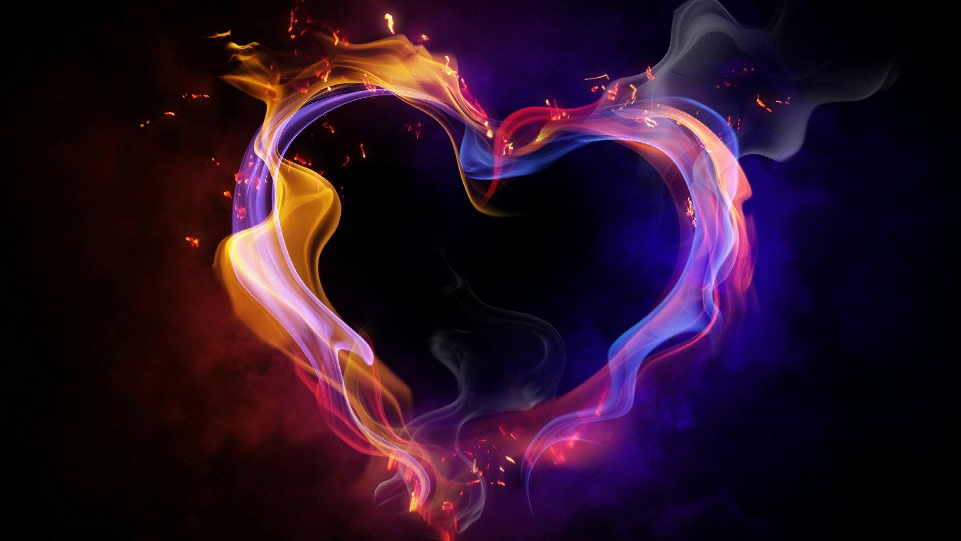 Fire Heart Wallpaper