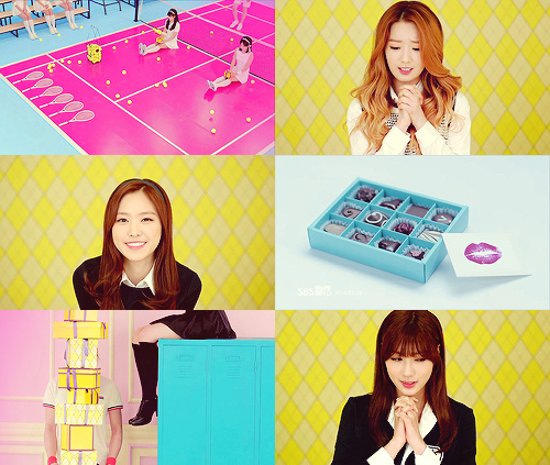 Korea Girls Group A Pink wallpaper containing a well dressed person, a business suit, and a sign entitled Apink 'Mr.Chu' M/V
