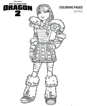 Astrid HTTYD 2 Coloring Page