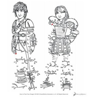 Astrid and Hiccup HTTYD 2 connect the dots