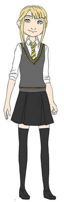 Astrid as a Hufflepuff Hogwarts student