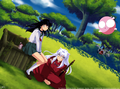 At the Place we met  - inuyasha-and-ranma-1-2 photo