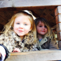 Baby Lux with cousin in London-March 21